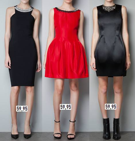 Vestidos de Zara para fin de año y Navidad 2012 2013