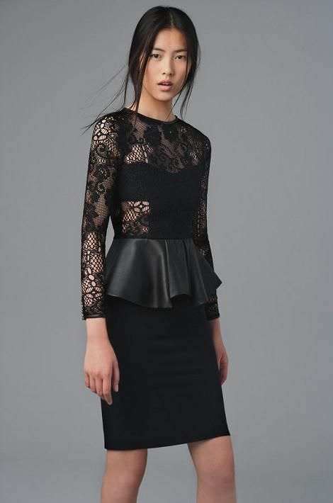 Zara lookbook peplum
