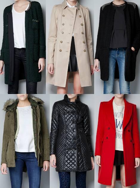 Ropa de Zara Woman otoño 2012, abrigos