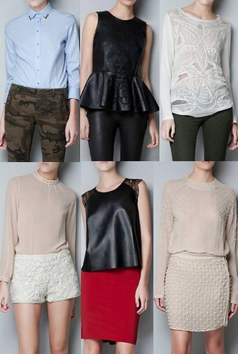 Ropa de Zara Woman otoño 2012, camisetas