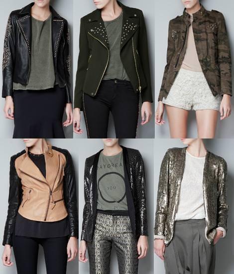 Ropa de Zara Woman otoño 2012, cazadoras