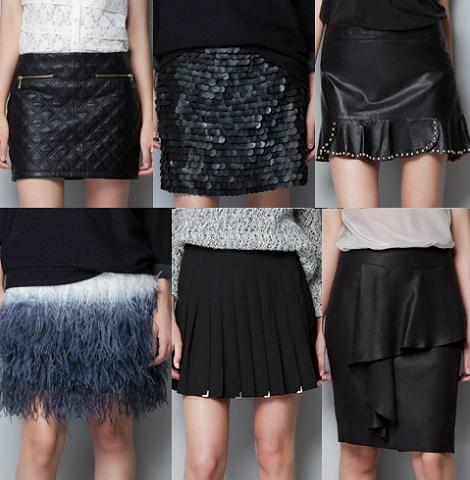 Ropa de Zara Woman otoño 2012, faldas