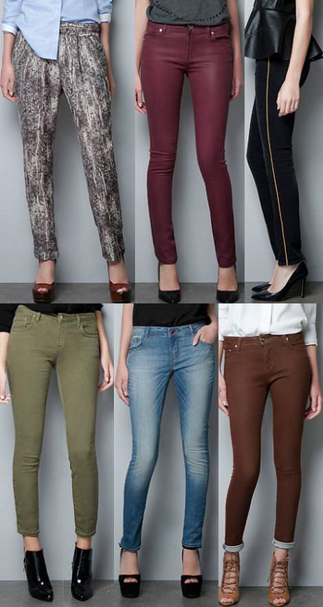 Ropa de Zara Woman otoño 2012, pantalones