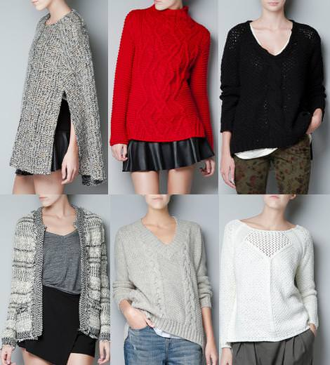 Ropa de Zara Woman otoño 2012, punto