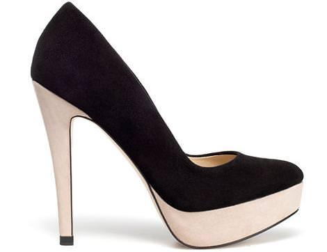 Los nuevos zapatos de Zara del invierno 2012, salones con plataforma
