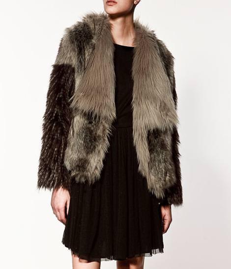 La nueva colección de Zara, chaquetón de pelo