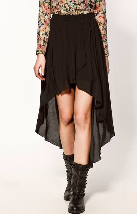 La nueva colección de Zara, falda largo desigual