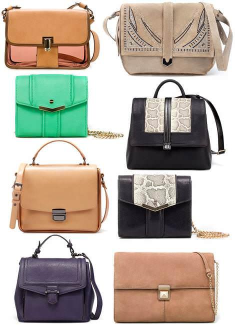 Bolsos Zara primavera 2012 bandoleras