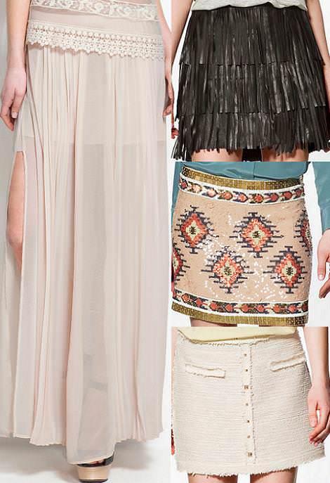 Colección Zara primavera 2012 faldas