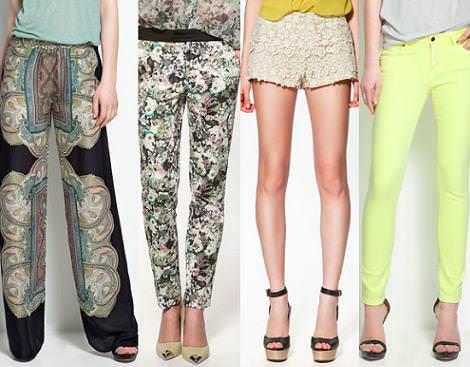 Colección Zara primavera 2012 pantalones