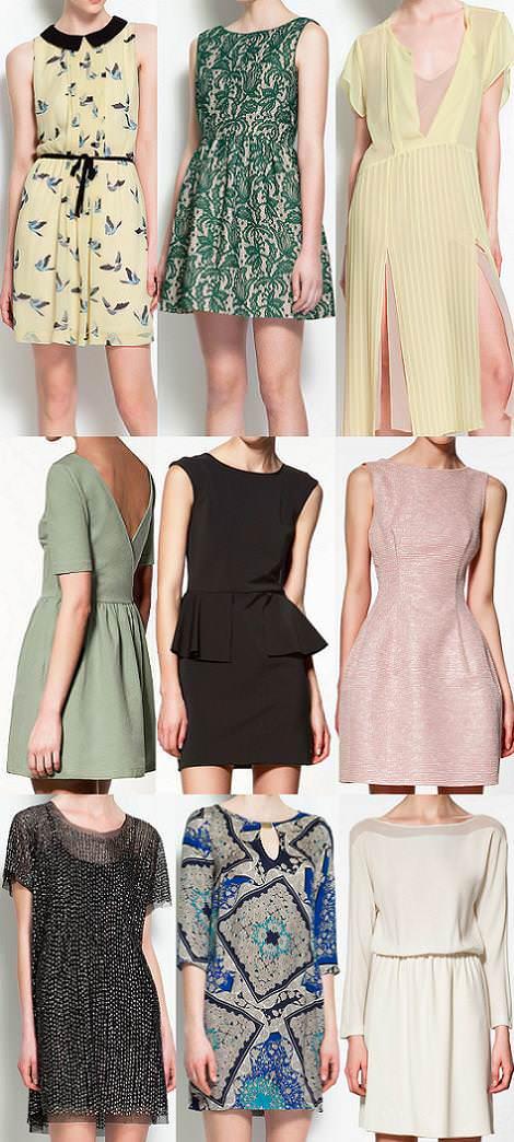Colección Zara primavera 2012 vestidos