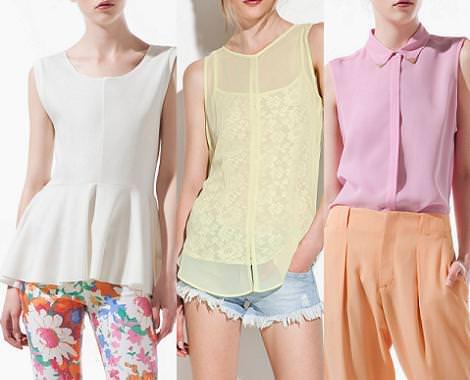 Nueva ropa de Zara primavera verano 2012 camisetas y blusas