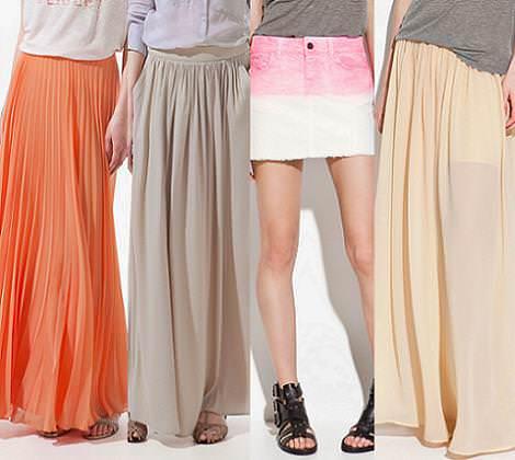 Nueva ropa de Zara primavera verano 2012 faldas