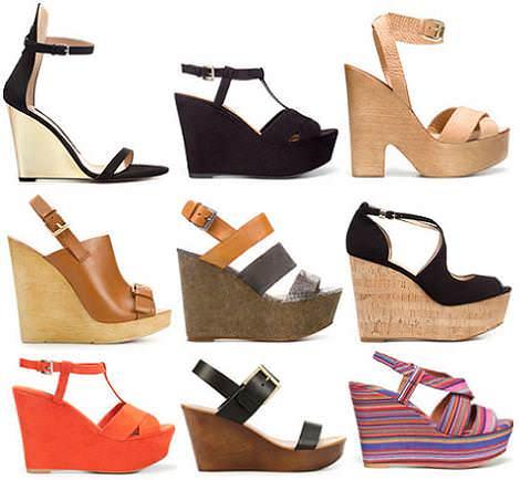 Sandalias de Zara del verano 2012 con cuñas