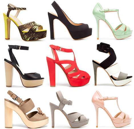 Sandalias de Zara del verano 2012 con plataforma