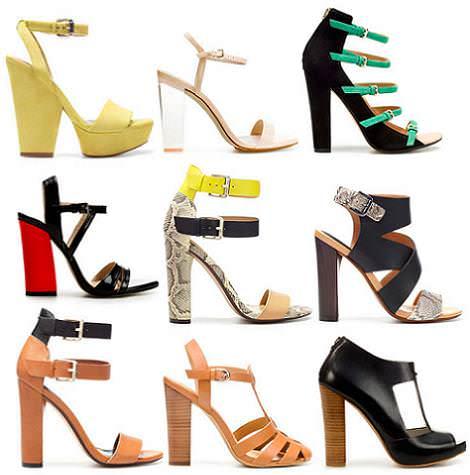 Sandalias de Zara del verano 2012 con tacón ancho