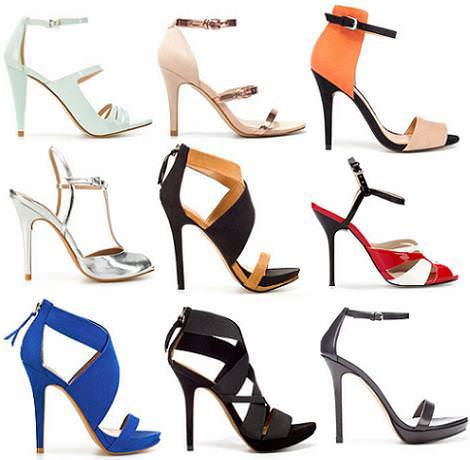 Sandalias de Zara del verano 2012 con tacón fino