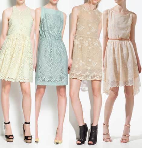 Vestidos de fiesta de Zara primavera verano 2012