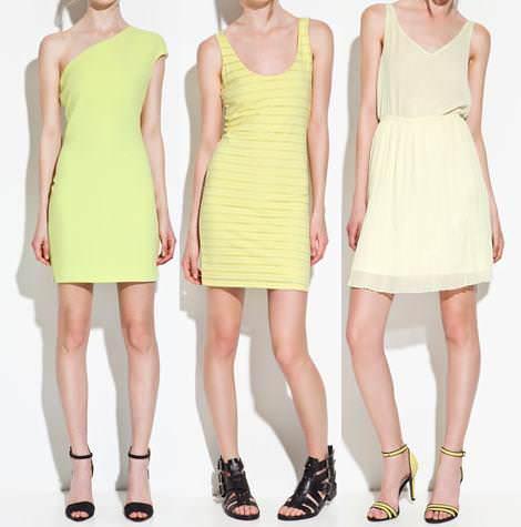 Vestidos de Zara TRF primavera verano 2012 amarillo