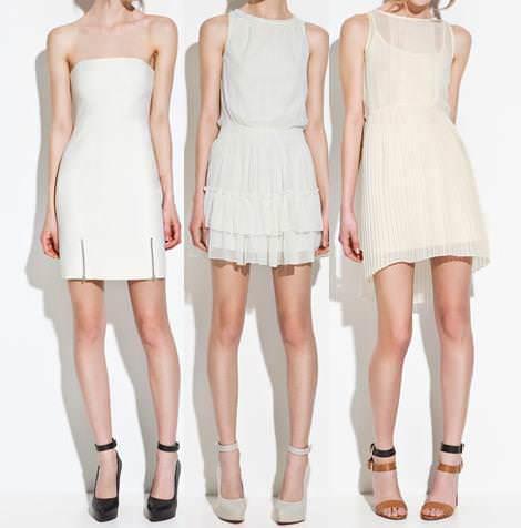 Vestidos de Zara TRF primavera verano 2012 blanco