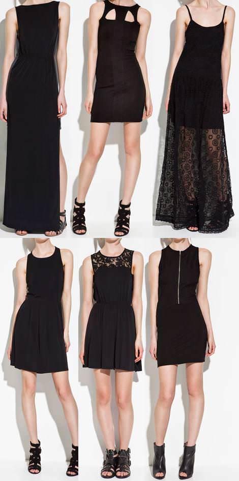 Vestidos de Zara TRF primavera verano 2012 negro