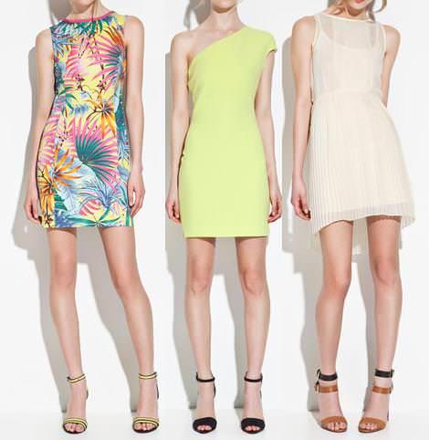 Vestidos de Zara TRF primavera verano 2012