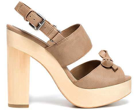 Nuevas sandalias y zapatos de zara demujer moda - Tocones de madera ...