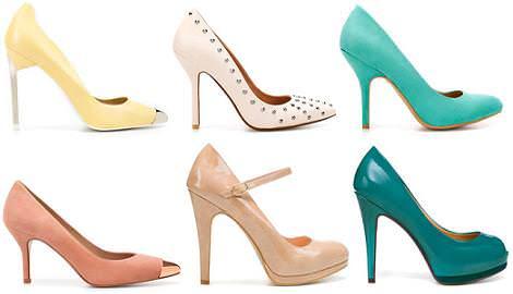 Zapatos Zara primavera verano 2012: salones y peep toe