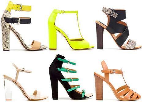 Zapatos Zara primavera verano 2012: sandalias tacón ancho