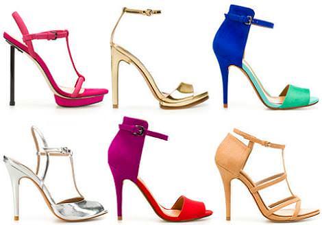 Zapatos Zara primavera verano 2012: sandalias tacón fino