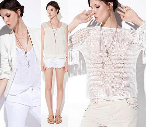 Zara TRF primavera verano 2012: looks en color blanco