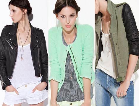 Zara TRF primavera verano 2012: cazadoras y chaquetas