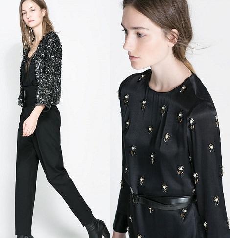 Colección de vestidos y ropa de fiesta de Zara para Fin de Año y Navidad 2013