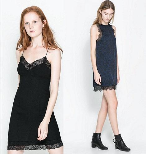 Colección de vestidos lenceros de Zara para Fin de Año y Navidad 2013