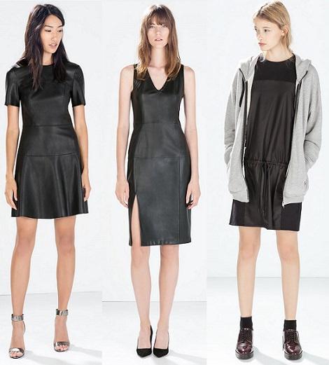 vestidos de cuero otoño invierno 2015
