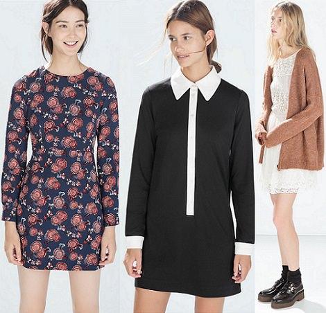 vestidos de Zara otoño invierno 2015