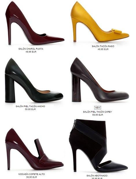 zapatos salón de zara otoño 2013