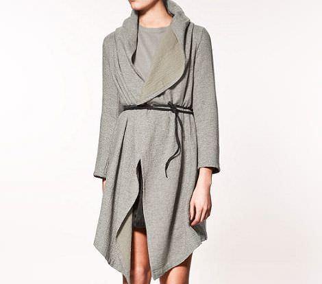 zara novedades abrigo gris