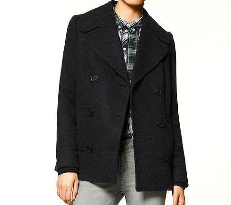 abrigo azul de zara