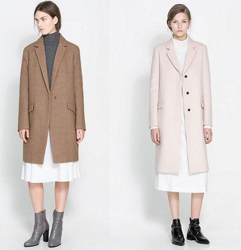 abrigo de estilo masculino de Zara