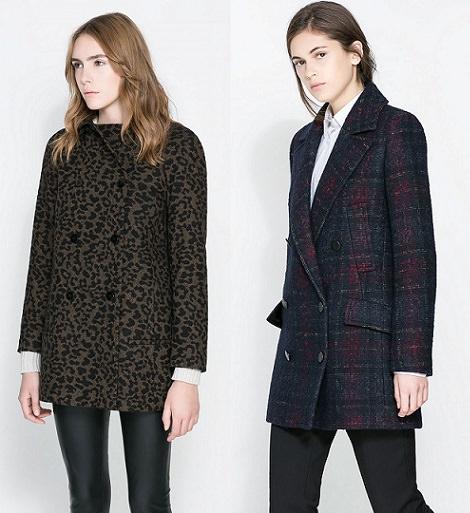 abrigo animal print de Zara