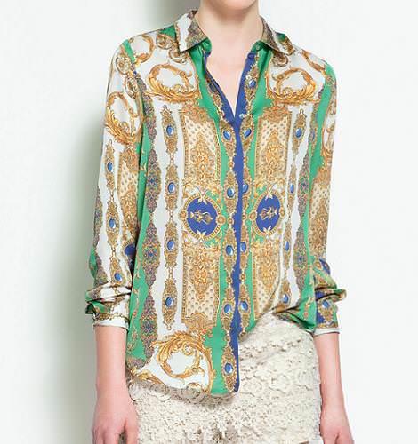 Camisas con estampados versace de Zara