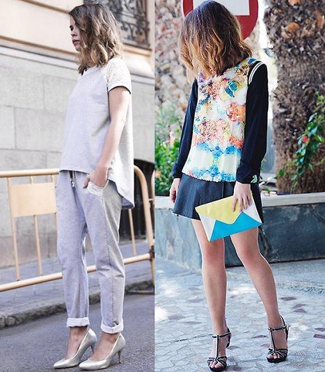 faldas de el armario de la tele primavera verano 2014 con collage vintage