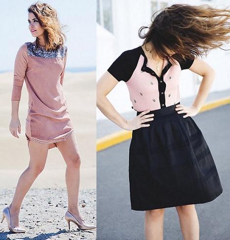 vestidos de el armario de la tele primavera verano 2014 con collage vintage