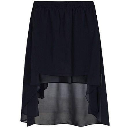 falda asimetrica de blanco