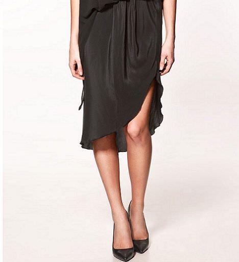 falda asimetrica zara