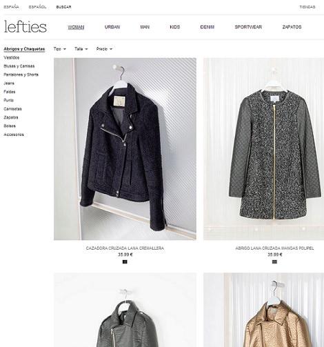 tienda online de Lefties