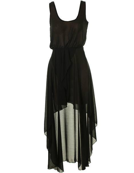 Vestido de asimétrico, ideal para la Noche de Reyes