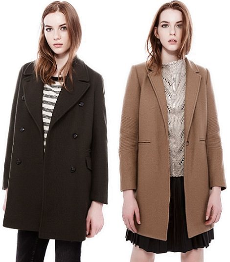 abrigos de paño de pull and bear invierno 2014