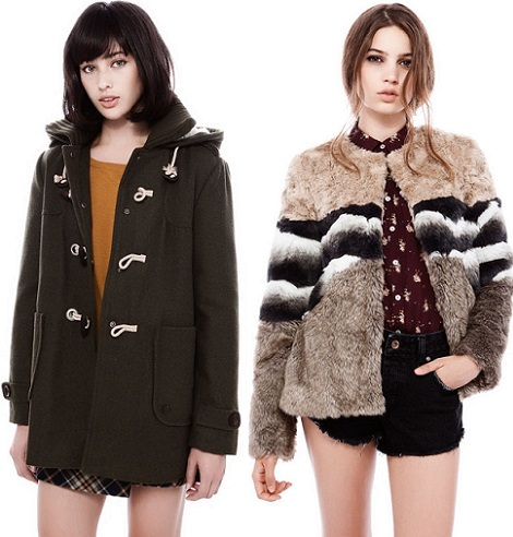trenca  de pull and bear invierno 2014